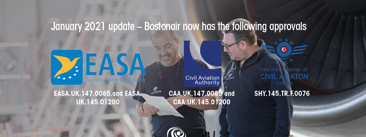 Bostonair are delighted to announce that alongside our existing UK CAA Part 145 and Part…