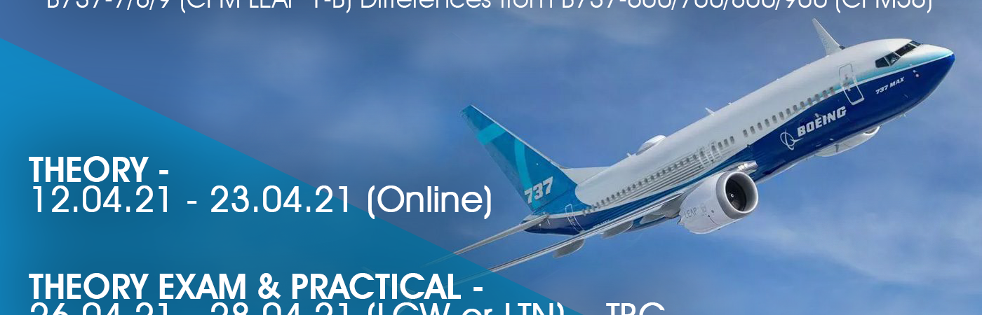 Bostonair Technical Training Limited have spaces available for the B737 Max Diffs B1/B2 Type course.…