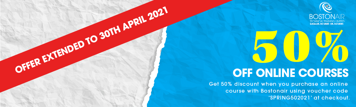 Bostonair Technical Training's offer to receive a 50% discount is being extended! Our fantastic springtime…