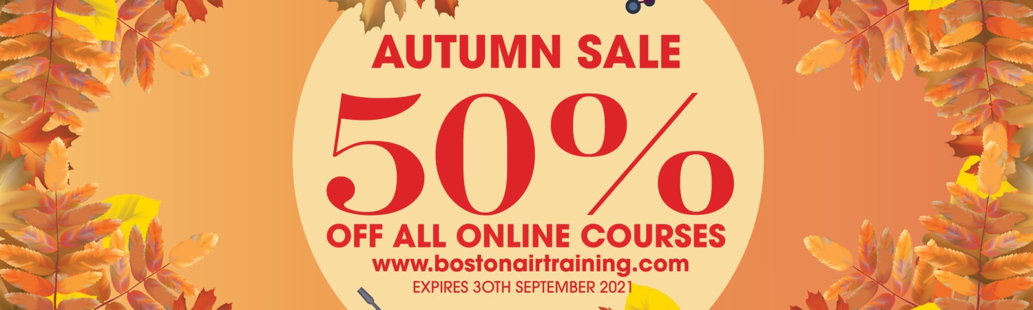 Bostonair Technical Training is offering a fantastic Autumn deal to kick start your training. From…